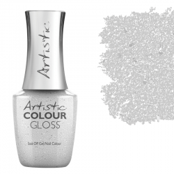 Colour Gloss I MAKE THE RULES - NEW! Silver Brushed Metal Foil